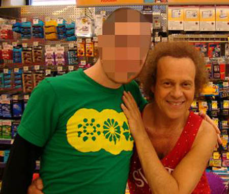 uncle grave face and richard simmons
