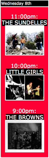 Browns / Little Girls / The Sundelles @ Cake Shop