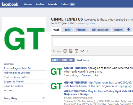 GT FB pages page
