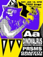 tiny dinowalrus record release poster