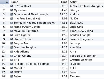 September 2009 Mix