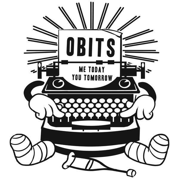 the Obits typewriter