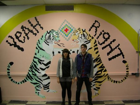Sarah likes DBA so much she painted this mural with some help from Rob