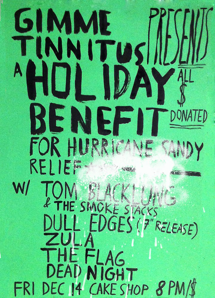 A Holiday Benefit for Hurricane Sandy Relief @ Cake Shop on December 14th