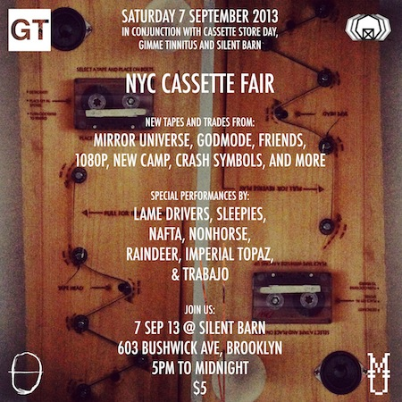 NYC Cassette Fair at Silent Barn September 7th 2013
