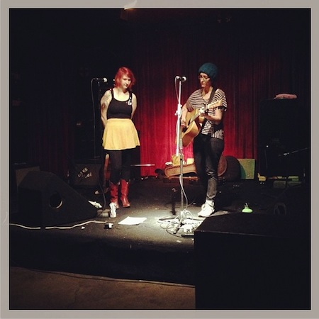 Margaret and Shannon Perform