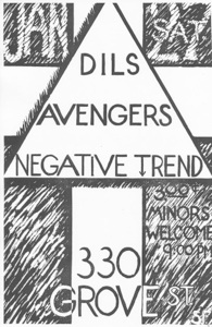 Dils Avengers gig flyer