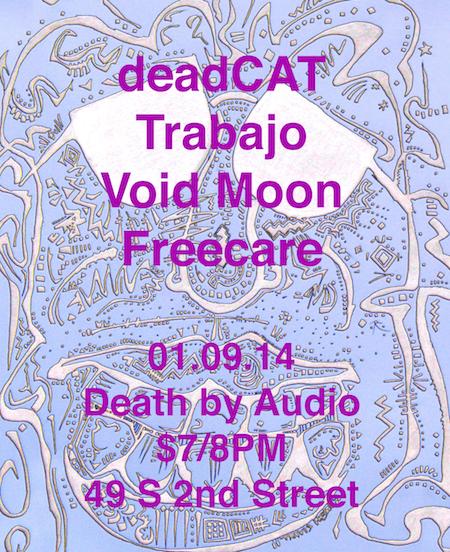 01.09.14 @ Death by Audio art by Travis Poston