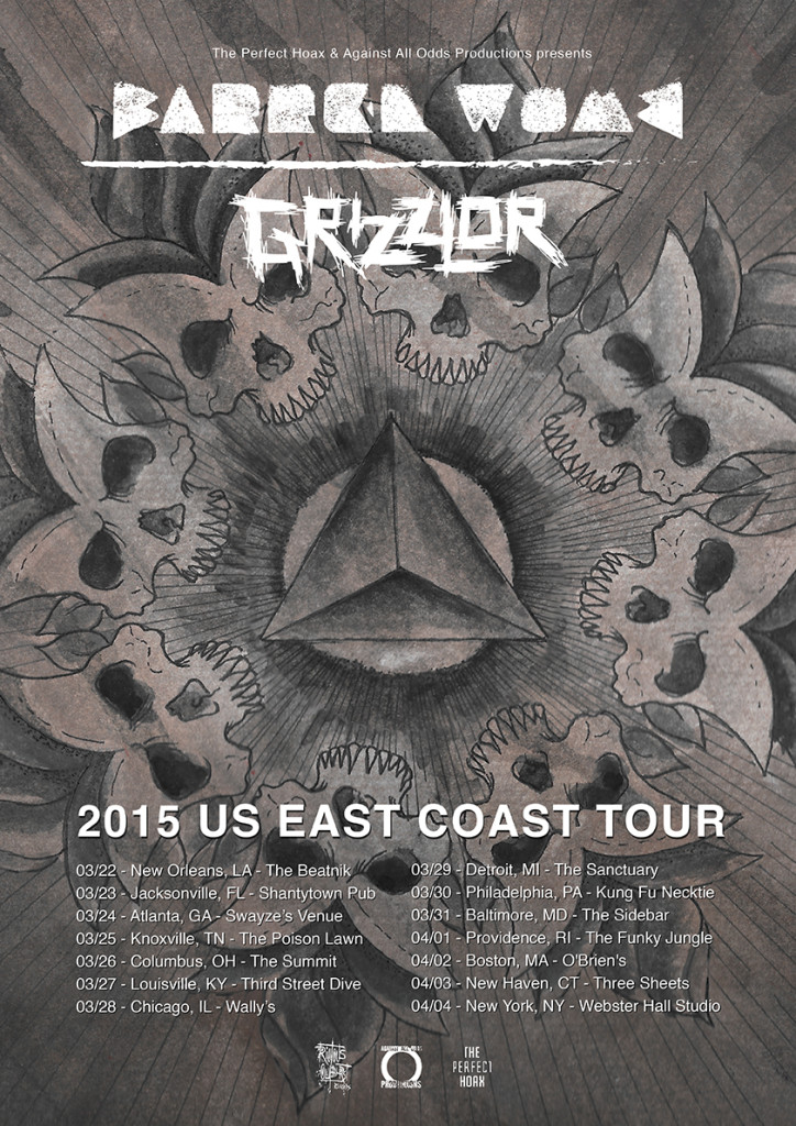 Grizzlor + Barren Womb Tour Poster