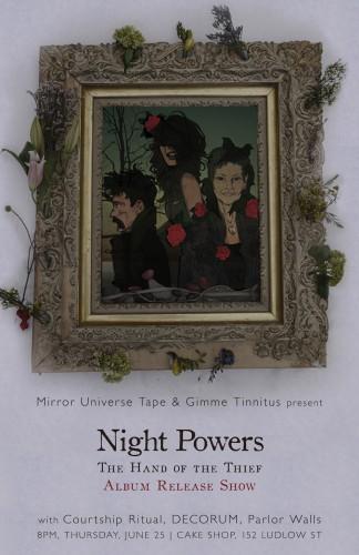show :: 6/25/15 @ Cake Shop > Night Powers ~ Courtship Ritual ~ DECORUM ~ Parlor Walls