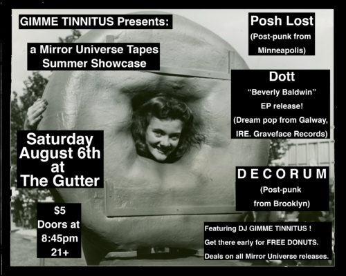 show :: 8/6/16 @ The Gutter > Mirror Universe Summer Showcase 2016