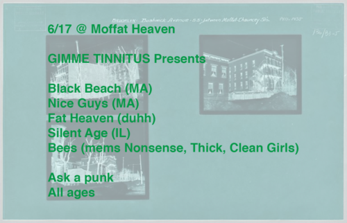 show :: 6/17/17 @ Moffat Heaven > Black Beach ~ Nice Guys ~ Fat Heaven ~ Silent Age ~ Bees