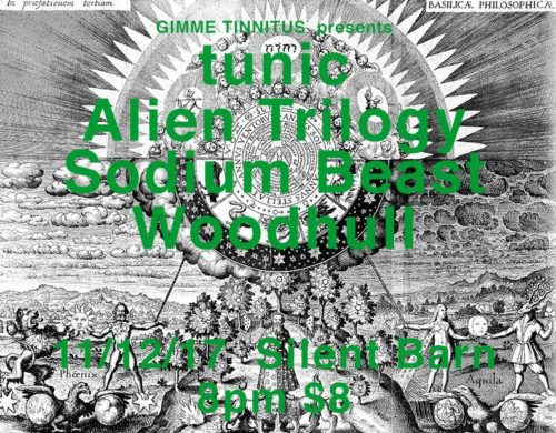 show :: 11/12/17 @ Silent Barn > tunic ~ Alien Trilogy ~ Sodium Beast ~ Woodhull